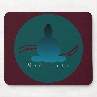 """Alfombrilla De Ratón """"Meditate"""" Buda hermoso"""