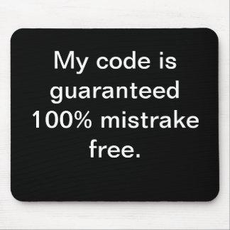 Alfombrilla De Ratón Mi código es el mistrake 100% libre - cita diverti