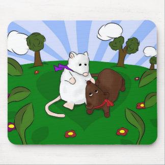 Alfombrilla De Ratón Mice en Love