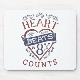 Alfombrilla De Ratón Mis golpes de corazón en danza de 8 cuentas