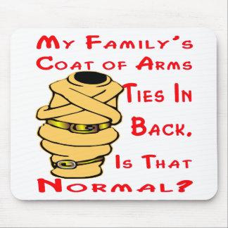 Alfombrilla De Ratón Mis lazos del escudo de armas de la familia en la
