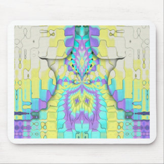 Alfombrilla De Ratón Modelo abstracto en colores pastel de neón festivo