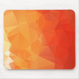 Alfombrilla De Ratón Modelo anaranjado y rojo de la faceta