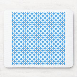 Alfombrilla De Ratón Modelo azul claro del círculo