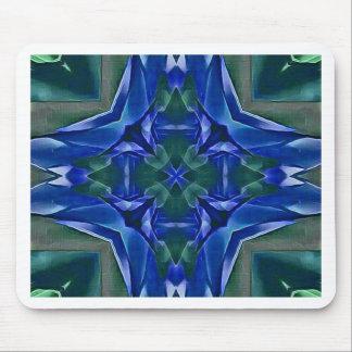 Alfombrilla De Ratón Modelo bonito de la forma de la cruz del azul real