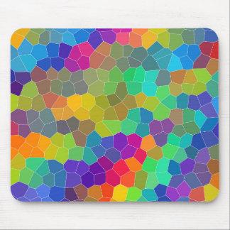 Alfombrilla De Ratón Modelo de mosaico brillante y colorido del