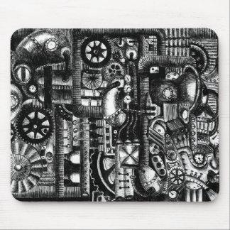Alfombrilla De Ratón modelo del mecanismo del dibujo animado de la