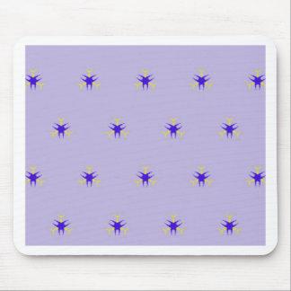 Alfombrilla De Ratón Modelo delicado de la explosión de la púrpura de