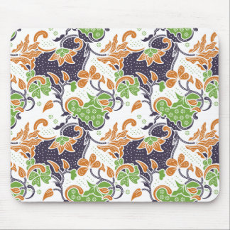 Alfombrilla De Ratón Modelo floral artístico del batik de las vides