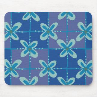 Alfombrilla De Ratón Modelo inconsútil del batik floral azul de