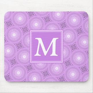 Alfombrilla De Ratón Modelo púrpura de los círculos de la lila del
