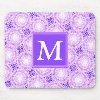 Alfombrilla De Ratón Modelo púrpura de los círculos del monograma