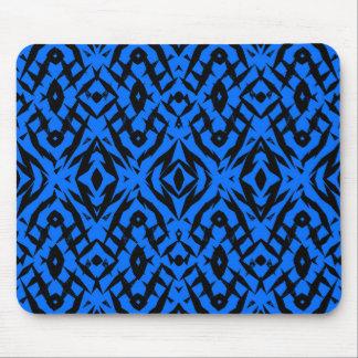 Alfombrilla De Ratón Modelo tribal azul de las formas