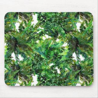 Alfombrilla De Ratón Modelo verde de la caída del bosque del helecho de