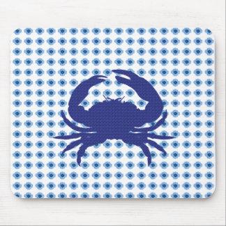 Alfombrilla De Ratón Modern-Floral-Baby-Blue_Crab_Unisex