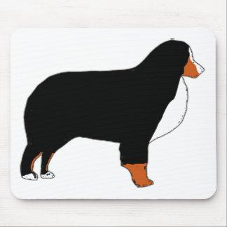 Alfombrilla De Ratón Moho de la silueta del perro de montaña de Bernese