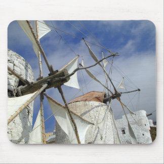 Alfombrilla De Ratón Molinoes de viento viejos Olympos Karpathos,
