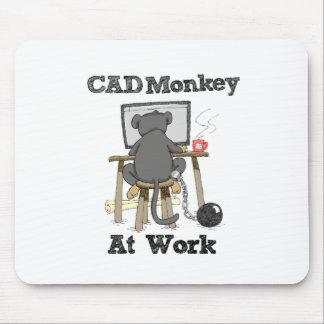 Alfombrilla De Ratón Mono del cad en el trabajo