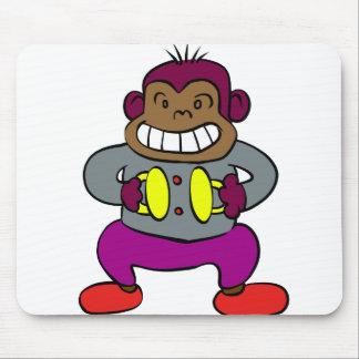 Alfombrilla De Ratón Mono retro con el juguete de los platillos