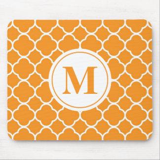 Alfombrilla De Ratón Monograma moderno anaranjado Mousepad de