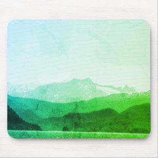 Alfombrilla De Ratón Montañas verdes Mousepad