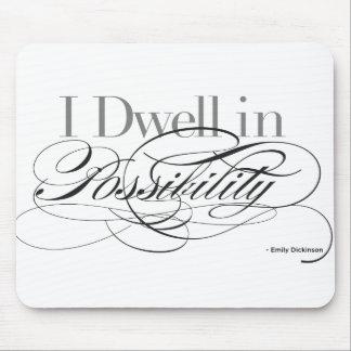 Alfombrilla De Ratón Moro en la posibilidad - cita de Emily Dickinson
