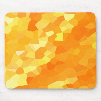 Alfombrilla De Ratón Mosaico amarillo y anaranjado retro de la caída