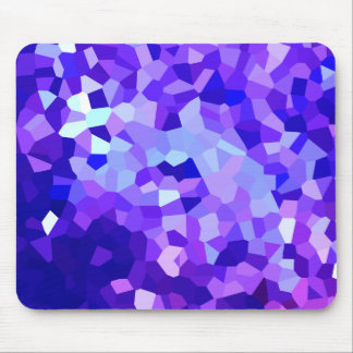 Alfombrilla De Ratón Mosaico azul y púrpura moderno del vitral