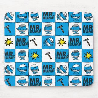 Alfombrilla De Ratón Mosaico de Sr. Bump el   en modelo azul