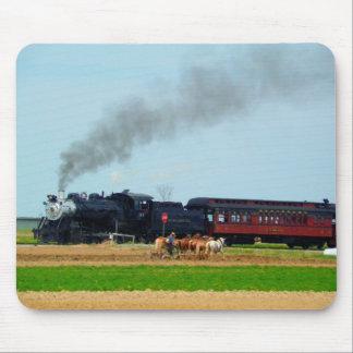 Alfombrilla De Ratón Motor de vapor y granjero de Amish