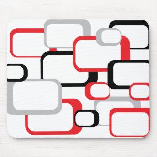 Alfombrilla De Ratón Mousepad blanco cuadrado retro negro y gris rojo
