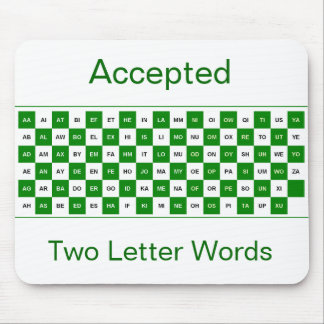 Alfombrilla De Ratón Mousepad de dos palabras de la letra en verde y