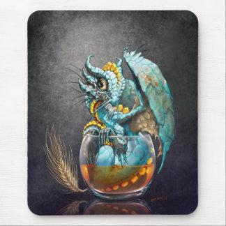 Alfombrilla De Ratón Mousepad del dragón del whisky