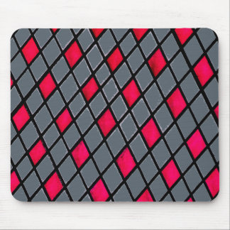 Alfombrilla De Ratón Mousepad geométrico rojo del modelo del diamante