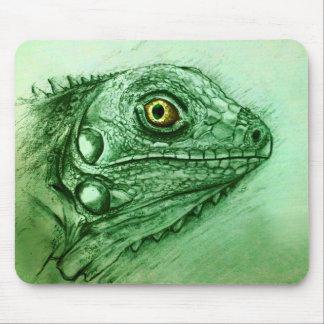 Alfombrilla De Ratón Mousepad original del arte del vintage - iguana