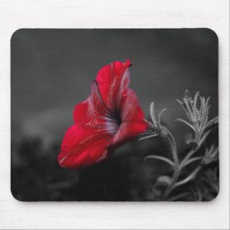 Alfombrilla De Ratón Mousepad rojo del estampado de flores