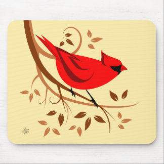 Alfombrilla De Ratón Mousepads cardinal rojo estilizado