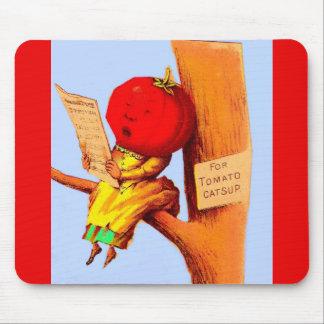 Alfombrilla De Ratón Mujer comercial de la cabeza del tomate de la