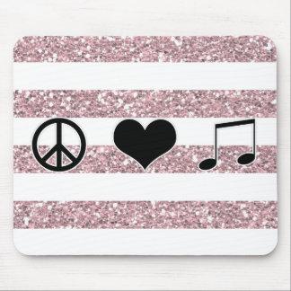 Alfombrilla De Ratón Música Mousepad del amor de la paz