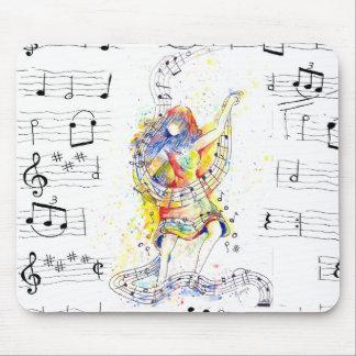 Alfombrilla De Ratón Música y danza - cojín de ratón