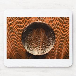Alfombrilla De Ratón Naranja en el globo cristalino