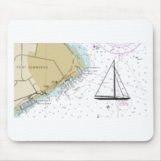 Alfombrilla De Ratón Navegación del cojín de ratón náutico del mapa