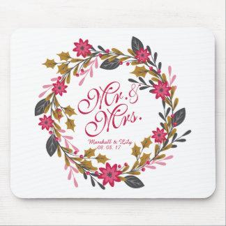 Alfombrilla De Ratón Navidad floral personalizado que casa el  
