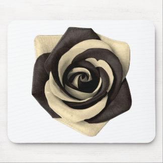 Alfombrilla De Ratón Negro color de rosa
