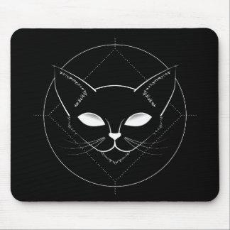 Alfombrilla De Ratón Negro extranjero Mousepad del gato