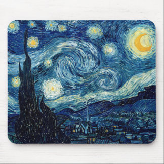 Alfombrilla De Ratón Noche estrellada de Vincent van Gogh