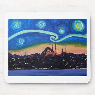 Alfombrilla De Ratón Noche estrellada en Estambul Turquía