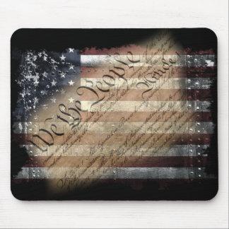 Alfombrilla De Ratón Nosotros la bandera americana Mousepad del vintage