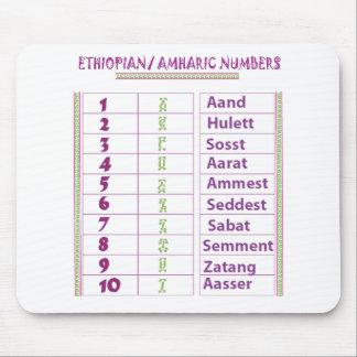 Alfombrilla De Ratón Números etíopes/del Amharic