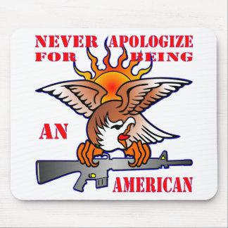 Alfombrilla De Ratón Nunca se disculpa por ser un AR15 americano M16